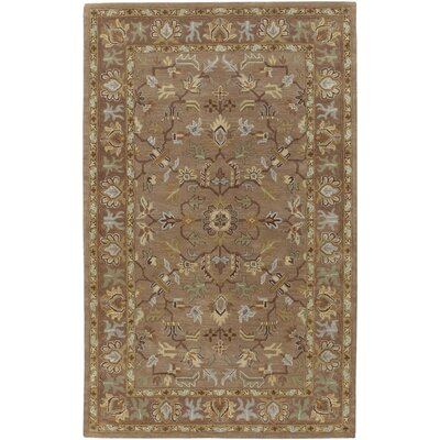 Clifton Hand-Tufted Mocha Area Rug Rug Size: 5 x 8