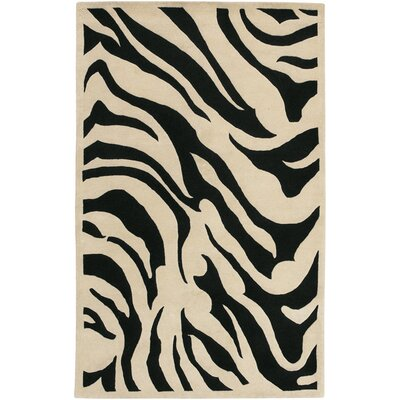 Akiva Black Area Rug Rug Size: Rectangle 8 x 11