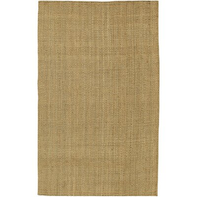 Jayleen Hand-Woven Brown Area Rug Rug Size: Rectangle 36 x 56