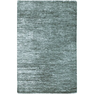 Casperson Turquoise Hand-Woven Charcoal Gray Area Rug Rug Size: 2' x 3'