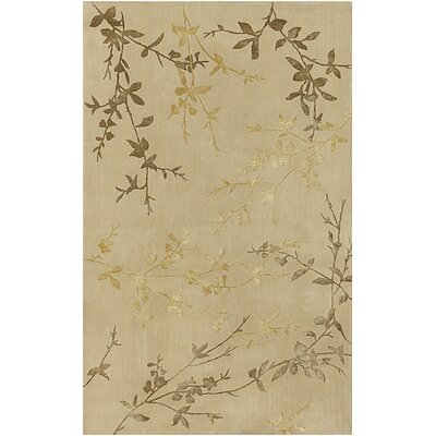 Gonzalo Tan/Gold Rug Rug Size: Rectangle 5 x 8
