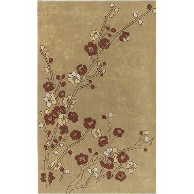 Tanaquil Tan/Cream Rug Rug Size: Rectangle 9 x 13
