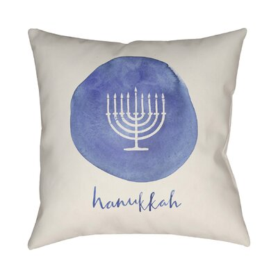 Hannukah Indoor/Outdoor Throw Pillow Size: 20 H x 20 W x 4 D