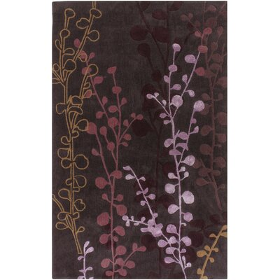 Holton Plum Rug Rug Size: Rectangle 5 x 8