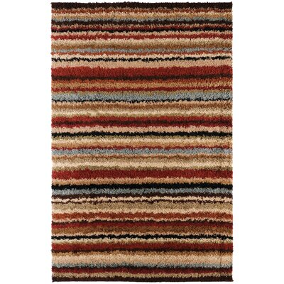 Beal Machine Woven Red Area Rug Rug Size: 111 x 33