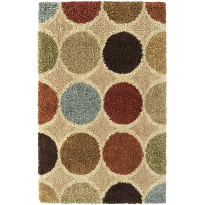 Beal Circle Beige Multi Rug Rug Size: Rectangle 53 x 76