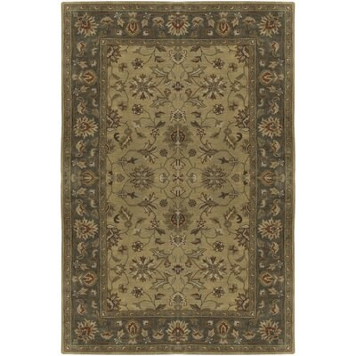 Stanford Hand-Tufted Gold/Olive Area Rug Rug Size: 2 x 3