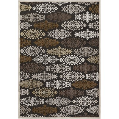 Ove Chocolate & Brown Area Rug Rug Size: 52 x 76