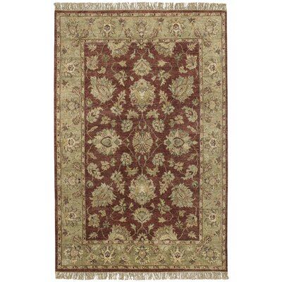 Carrickfergus Hand-Woven Wool Burgundy/Beige Area Rug Rug Size: Rectangle 5' x 8'