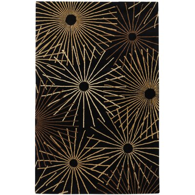 Deweese Black Area Rug Rug Size: Rectangle 4 x 6