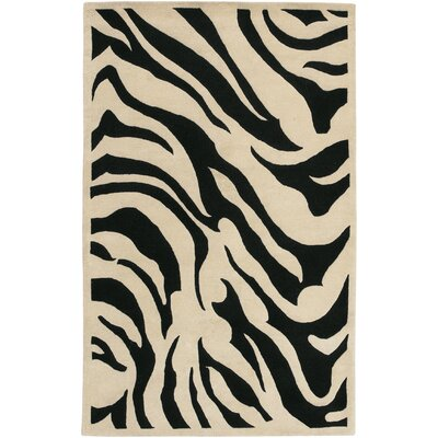 Akiva Black Area Rug Rug Size: Rectangle 5 x 8