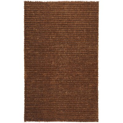 Greenwood Copper Brown/Tan Solid Area Rug Rug Size: Rectangle 5 x 8