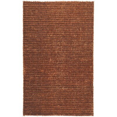 Greenwood Rust Brown/Tan Solid Area Rug Rug Size: 5 x 8