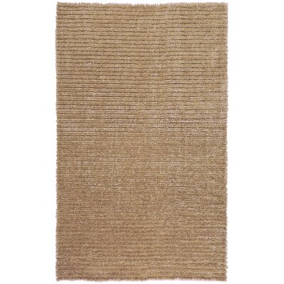 Greenwood Champagne Brown/Tan Solid Rug Rug Size: 5 x 8