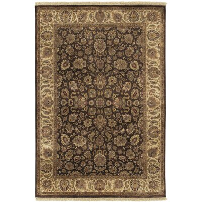 Attica Brown Floral Area Rug Rug Size: Rectangle 56 x 86