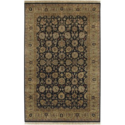 Heirloom Black Oriental Area Rug Rug Size: 96 x 136