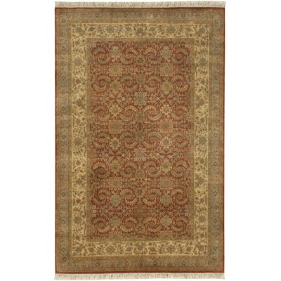 Attica Hand-Woven Wool Red Area Rug Rug Size: Rectangle 56 x 86