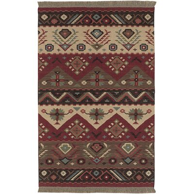 Double Mountain Red Rug Rug Size: 5 x 8