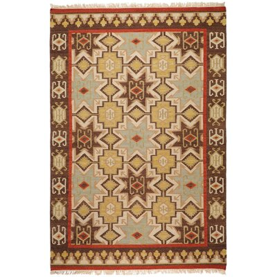 Wellsville Chocolate/Beige Rug Rug Size: Rectangle 5 x 8