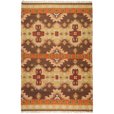 Wellsville Chocolate/Orange Rug Rug Size: 5 x 8