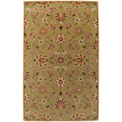 Purcell Gold Rug Rug Size: 33 x 53