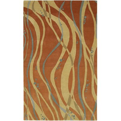 Macie Tangerine Rug Rug Size: Rectangle 33 x 53