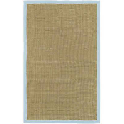 Burg Beige/Blue Rug Rug Size: Rectangle 9 x 13