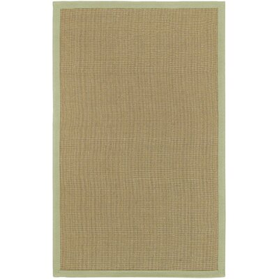 Burg Beige/Green Rug Rug Size: Rectangle 2 x 3