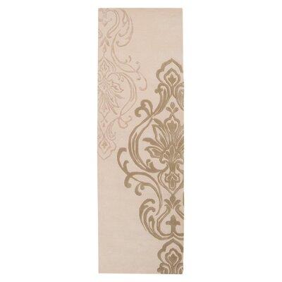 Gardiner Modern Classics Ivory/Beige Area Rug Rug Size: Runner 26 x 8