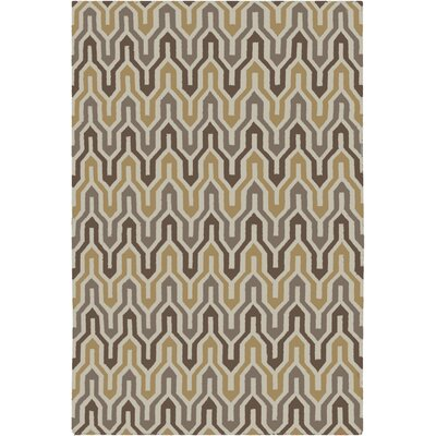 Robby Hand-Woven Brown Area Rug Rug Size: Rectangle 8 x 11