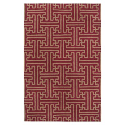 Brinda Brick/Gold Area Rug Rug Size: Rectangle 2 x 3
