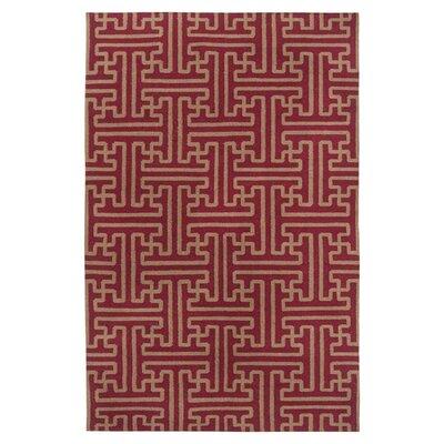 Brinda Brick/Gold Area Rug Rug Size: 2 x 3