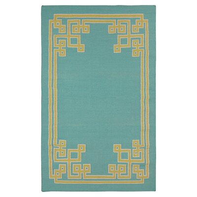 Ermont Sky Blue Area Rug Rug Size: Rectangle 2 x 3