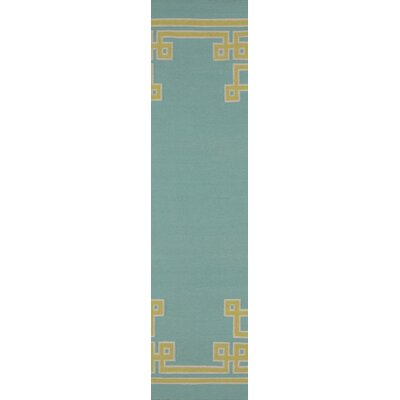 Ermont Sky Blue Area Rug Rug Size: Runner 26 x 8