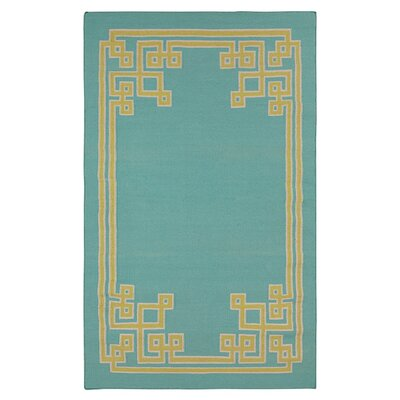 Ermont Sky Blue Area Rug Rug Size: Rectangle 33 x 53