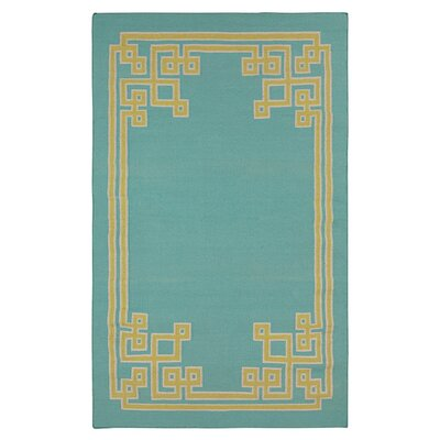 Ermont Sky Blue Area Rug Rug Size: 5 x 8