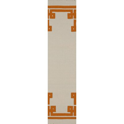 Ermont Parchment Area Rug Rug Size: Runner 26 x 8