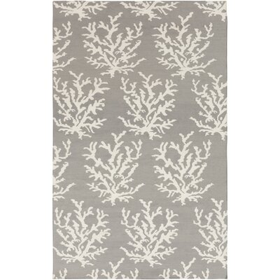 Boardwalk Light Gray& White Area Rug Rug Size: 2 x 3