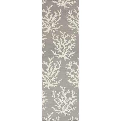 Boardwalk Light Gray& White Area Rug Rug Size: Runner 26 x 8