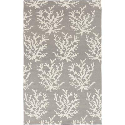Byard Light Gray& White Area Rug Rug Size: 5 x 8
