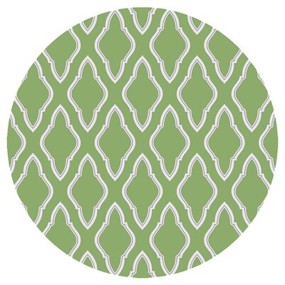 Chardon Teal Green Area Rug Rug Size: Round 8
