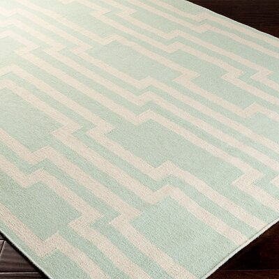 Buckardy Well Green/White Area Rug Rug Size: Runner 26 x 8