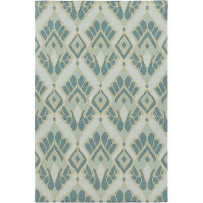 Suffield Teal Ikat/Suzani Area Rug Rug Size: Rectangle 5 x 8