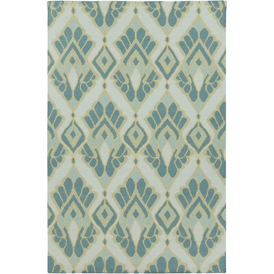 Suffield Teal Ikat/Suzani Area Rug Rug Size: 5 x 8
