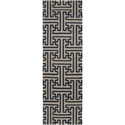 Cronus Navy/Ivory Area Rug Rug Size: Runner 26 x 8