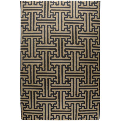 Cronus Navy/Ivory Area Rug Rug Size: Rectangle 36 x 56