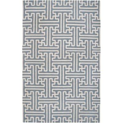 Brinda Foggy Blue Area Rug Rug Size: 36 x 56