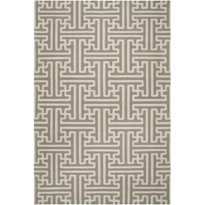 Brinda Hand Woven Wool Sage Area Rug Rug Size: Rectangle 5 x 8