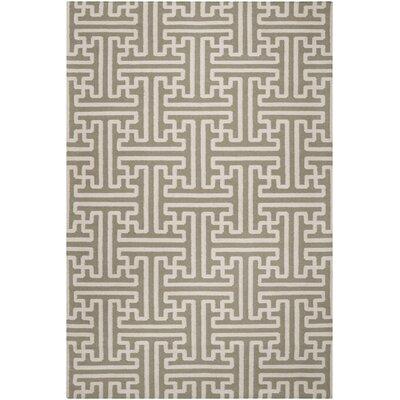 Vihaan Sage/Ivory Area Rug Rug Size: 2 x 3