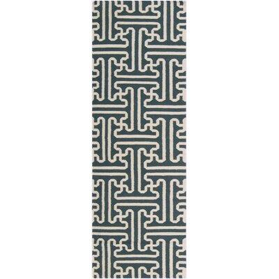 Brinda Peacock/Green Area Rug Rug Size: Runner 26 x 8